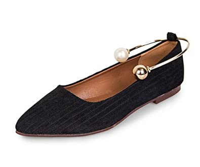 a12bc97fb2 Amazon.com | PRETTYHOMEL Women's Casual Pointed Plain Ballet Comfort ...