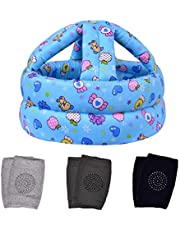 TORASO Baby Head Protector & Baby Knee Pads for Crawling, Infant Safety Helmet & Walking Baby Helmet, for Age 6-36 Months(B)