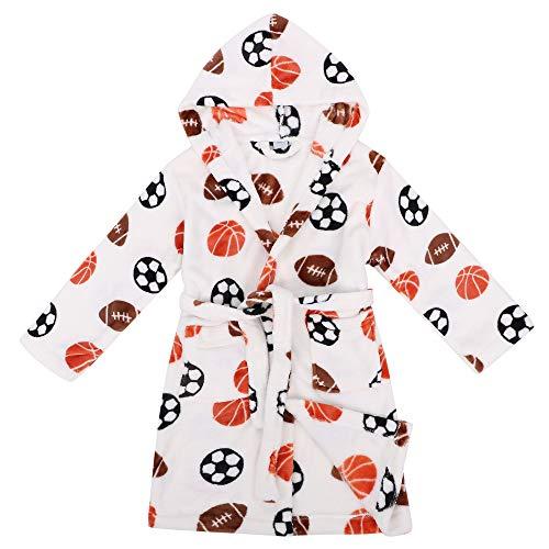 Verabella Hooded Robe Winter Plush Soft Fleece Hooded Bathrobes Robe,White,XL