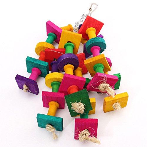 Petromalt Cat Treats (QQPET Wooden Bird Toys Colorful Chew Toy for Parakeet Parrot)