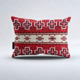 DreamsBig Red White Navajo Cross Pattern Print, South West Throw Pillow Home Decorative Throw Pillow Cushion Cases Cover Pillowcase One-Side 16x24