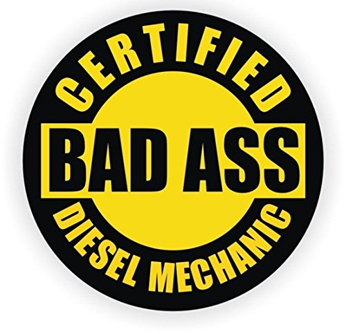 1 Pc Blameless Popular Certified Bad Ass Diesel Mechanic Car Sticker Hard Hat Label Gas Decal Motor Emblem Size 2