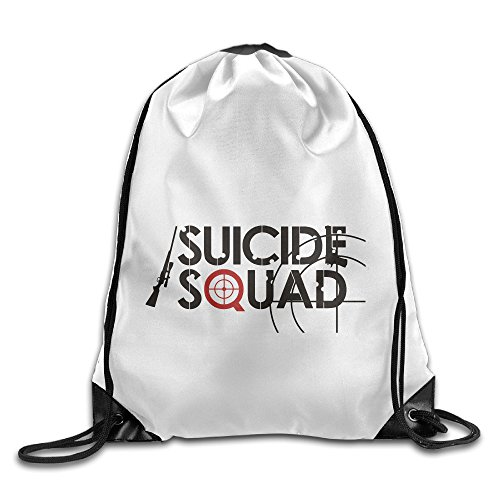 Bekey Suicide Squad Letters Drawstring Backpack Sport Bag For Men & Women For Home Travel Storage Use Gym Traveling Shopping Sport Yoga Running