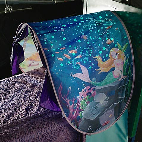 Dream Tents Foldable Glow Magical Mermaid Bed Tent for Kids with Night Light Generic