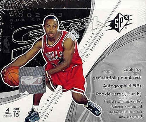 (2002/03 Upper Deck SPx NBA Basketball box)