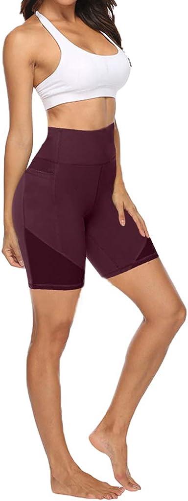Running Shorts with Phone Pockets Tummy Control Home Workout Cycling Shorts Athletic Bike Shorts KIACIYA Yoga Shorts for Women High Waisted