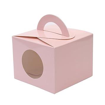 Amazon.com: Ezek de colores cajas de regalo con ventana y ...