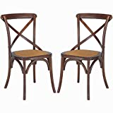 Poly and Bark Cafton Crossback Chair in Hickory (Set of 2)