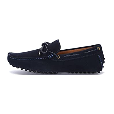 Size 10 D(M) US Men's Suede Moccasin Leather Casual Slip On Tie Loafers Dress Shoes