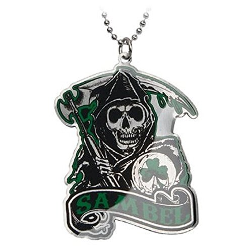 Sons Of Anarchy Green Sambel Pendant Necklace With Chain