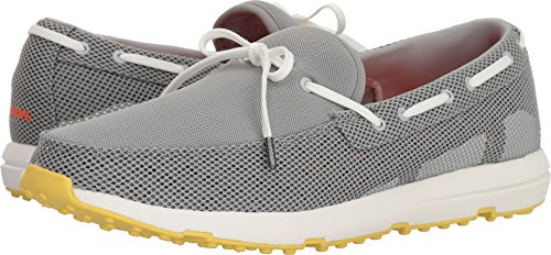 SWIMS Mens Breeze Leap Laser Loafer, Limestone/White/Faded Lemon, Size 9 by SWIMS