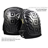 Professional Heavy Duty Knee Pads. Foam Padding and Gel Cushion Provide Max Comfort. Dual Straps and Adjustable Clips.