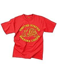Rothco T-Shirt/Us Marine Corps Bulldog - Red