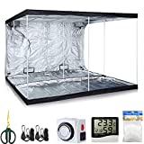 TopoLite Grow Tent Kit 120″x120″x80 Indoor Plants Dark Room+2Pcs Grow Light Hangers+1-pack 5x15ft Plant Trellis Netting+1Pcs Timer+1Pcs 60mm Bonsai Shear+1Pcs Thermometer Hygrometer(120″x120″x80″ Kit) Review