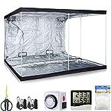 TopoLite Grow Tent Kit 120″x120″x80 Indoor Plants Dark Room+2Pcs Grow Light Hangers+1-pack 5x15ft Plant Trellis Netting+1Pcs Timer+1Pcs 60mm Bonsai Shear+1Pcs Thermometer Hygrometer(120″x120″x80″ Kit) Review