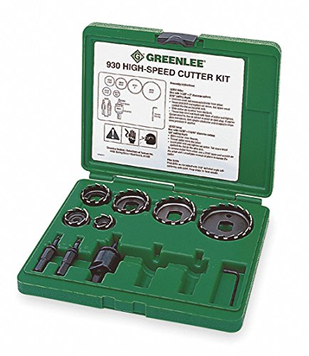 11-Piece Electricians Hole Saw Kit for Wood, Range of Saw Sizes: 7/8'' to 2-1/2'' by Greenlee