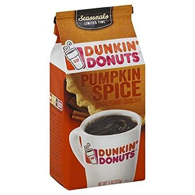Dunkin' Donuts Pumpkin Spice Flavored Ground Coffee, 11 oz