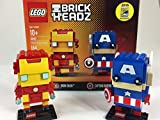 LEGO Marvel Brick Headz Iron Man And Captain America Review (41492)