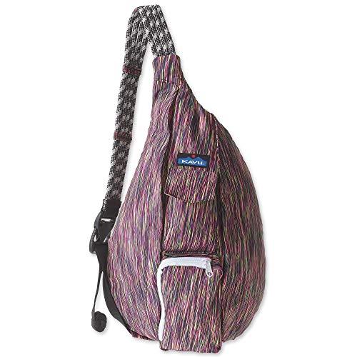 KAVU Original Ropercise Sling Bag Gym Yoga Crossbody Bag - Neon Lights
