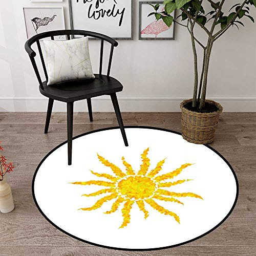 Round Floor mat for Kids Round Indoor Floor mat Entrance Circle Floor mat for Office Chair Wood Floor Circle Floor mat Office Round mat for Living Room Pattern 2'7