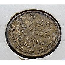 F0010 France B Y99 RY 1950 20 Francs VF