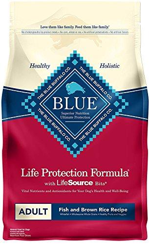 6 LB, Fish & Brown Rice Recipe Adult Dog (Blue Buffalo Adult Formula)
