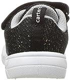 carter's Girls' Avion-G Athletic Sneaker, Black, 7
