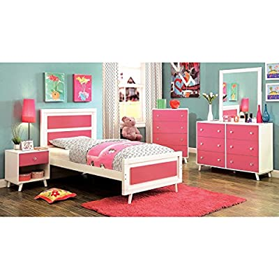 Alivia Pink and White 5-Piece Youth Bedroom Set / NO TRUNDLE