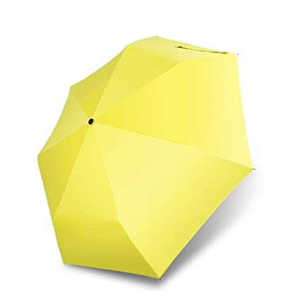 Doblar Sombrilla Parasol Paraguas Femenino Vinilo Anti-UV Tres Doblar Paraguas Sol de Uso Dual
