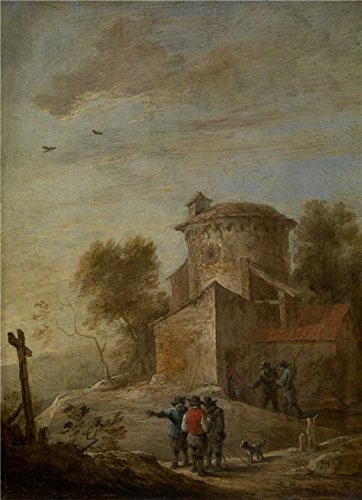 Clayton 4 Panel (Oil Painting 'David Teniers II - Morning, 17th Century', 12 x 17 inch / 30 x 42 cm , on High Definition HD canvas prints is for Gifts And Game Room, Gym And Kitchen Decoration, canvases)