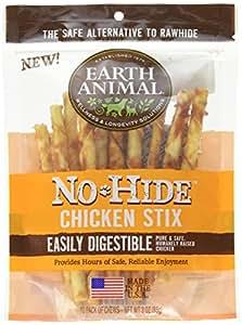 Amazon.com : Earth Animal No-Hide Chicken Stix 10 Count/3