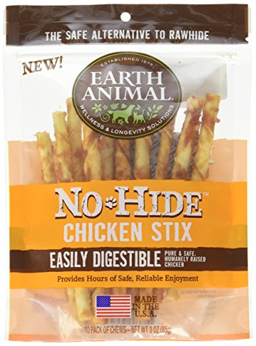 Earth Animal No-Hide Chicken Stix 10 Count/3 Ounces