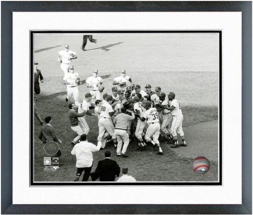 Bob Gibson St. Louis Cardinals 1964 World Series Celebration Photo (Size: 12.5