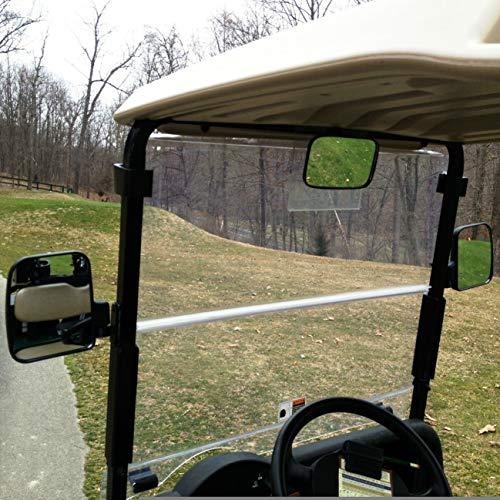 ZaZaTool 3 Pcs XL Golf Cart Side and Rear View Mirror Set Universal for Club Car EZ GO Yamaha