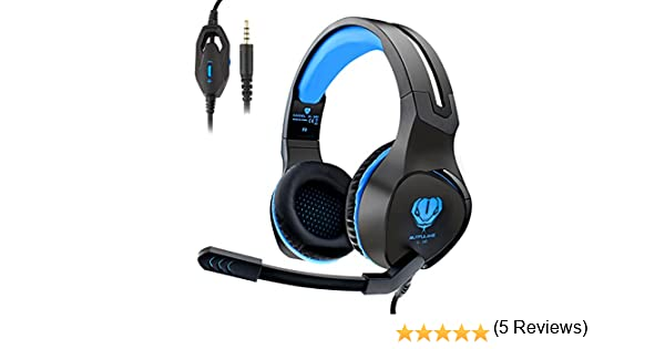 butfu Lake Gaming Headset con micrófono para Xbox One, PS4, Switch PC Sonido Surround, reducción de ruido, Gaming - Fácil Volumen Control - Conector de 3,5 ...