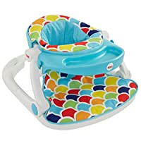 Fisher-Price Sit-Me-Up Floor Seat with Toy Tray, Happy Hills