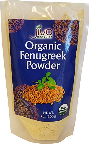 Organic Fenugreek Powder 7 Ounce - Non GMO Certified USDA Pure Organic Ground Methi Powder - by Jiva Organics