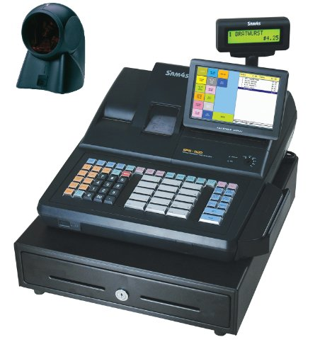 SAM4S SPS-520 RT Cash Register with MS7120 (Sam4s Cash Registers)
