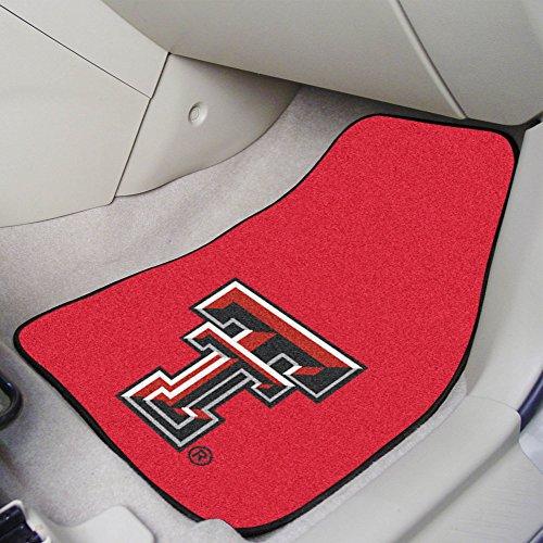 FANMATS NCAA Texas Tech University Red Raiders Nylon Face Carpet Car - 2 Tech Texas Piece
