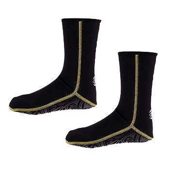 perfk 1 Par de Calcetines de Buceo de Primera Calidad Zapatos de Agua de Neopreno de e Playa de 3 mm para Hombres Mujeres Niños Niñas: Amazon.es: Deportes y ...