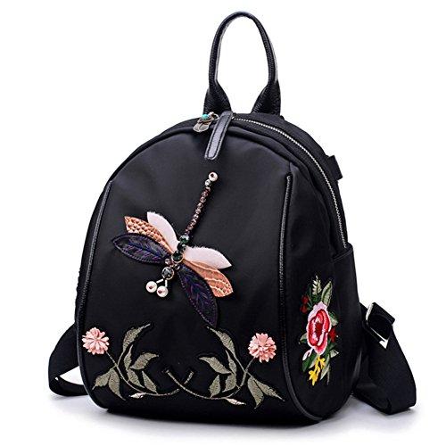 Damas bandoleras,solo hombro /bandolera,bolsas de viaje de placer-negro pequeña