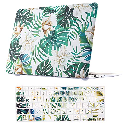 MacBook Air 13 Inch Case, TeenGrow Plastic Hard Protective Smooth MacBook Shell Case with Keyboard Cover for MacBook Air 13'' (Model:A1369 and A1466), Magnolia by TeenGrow