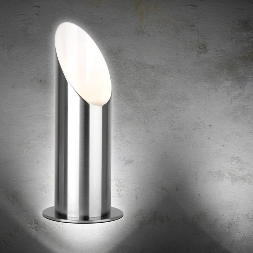 Modern Brushed Chrome Table/Floor Standing Uplighter Wall Wash Lamp