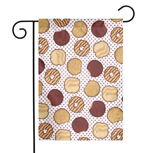 Undertale Annoying Dog 12x18 Inches Garden Flag,Cookies Chocolate Yard Flag Seasonal Yard Flag for Home Outdoor Decor,Festival Flag