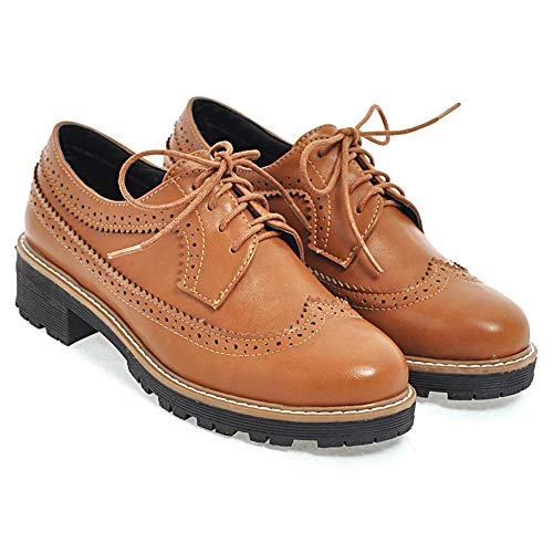 Lacet En Chaussures Femmes Marron Derbies Coolcept qtEFvv