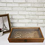 MOOCA Wood Glass Top Jewelry Display Case