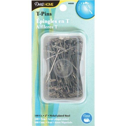 Dritz 44008 Decorating T-Pins, 2-Inch, - Rug Tacks