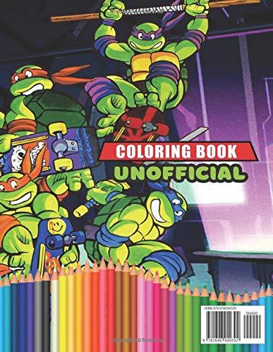 Teenage Mutant Ninja Turtles Coloring Book: Awesome Coloring ...