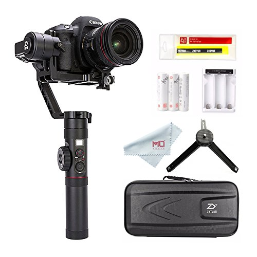 Zhiyun Crane 2 2017 Follow Focus 3-Axis Handheld Gimbal Stabilizer for DSLR Camera up to 7 Lb, 18 Hrs Run-time, OLED Display (Gimbal Slr)