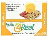 Granola Gourmet 4Real Low Glycemic Energy Bars - Cran-Orange, 10-Count Bars